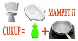 cara mengatasi wc mampet dengan air panas